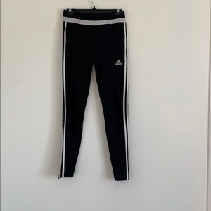 ADIDAS BLACK AND WHITE TRACKPANTS
